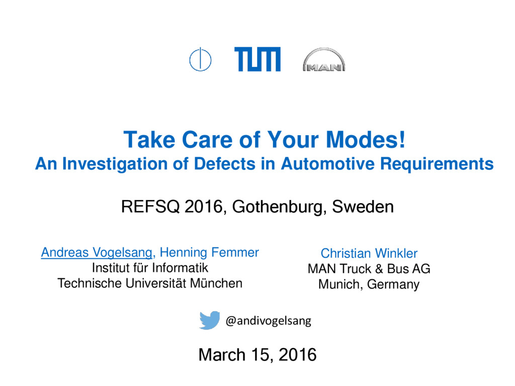 Take Care of Your Modes! An Investigation of De...