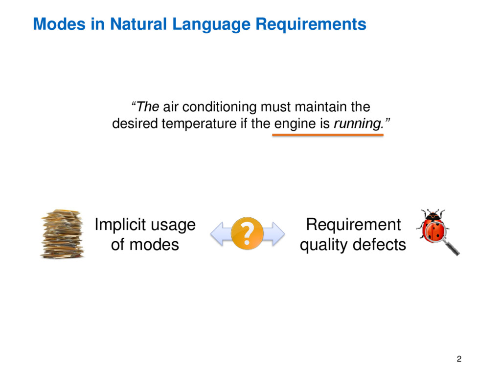 """Modes in Natural Language Requirements 2 """"The a..."""