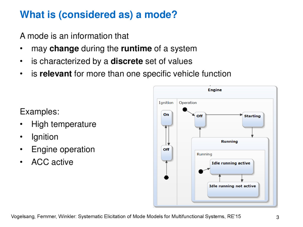 What is (considered as) a mode? A mode is an in...