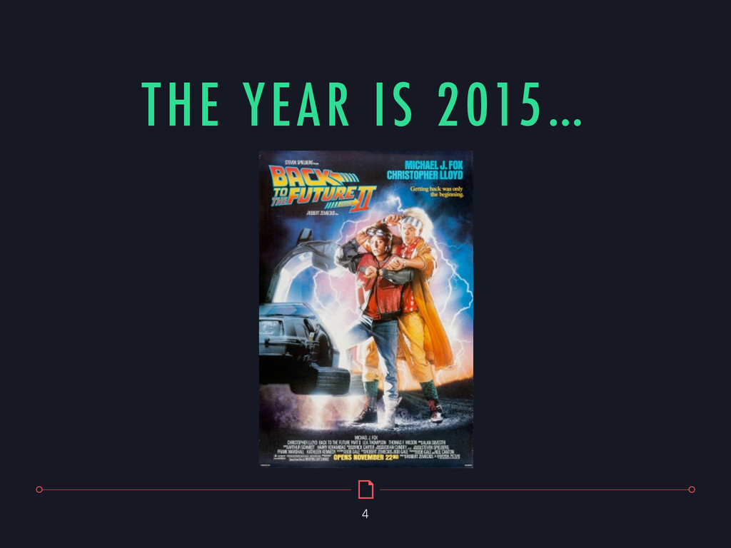 THE YEAR IS 2015… 4