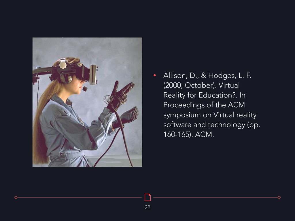 • Allison, D., & Hodges, L. F. (2000, October)....