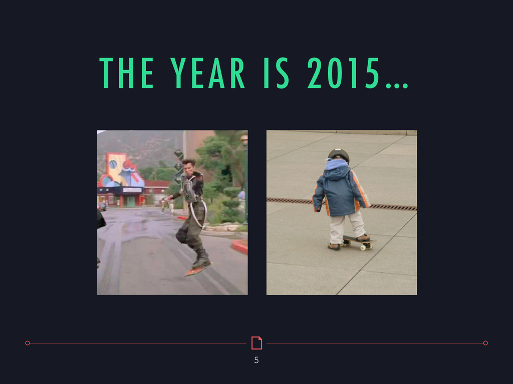 THE YEAR IS 2015… 5