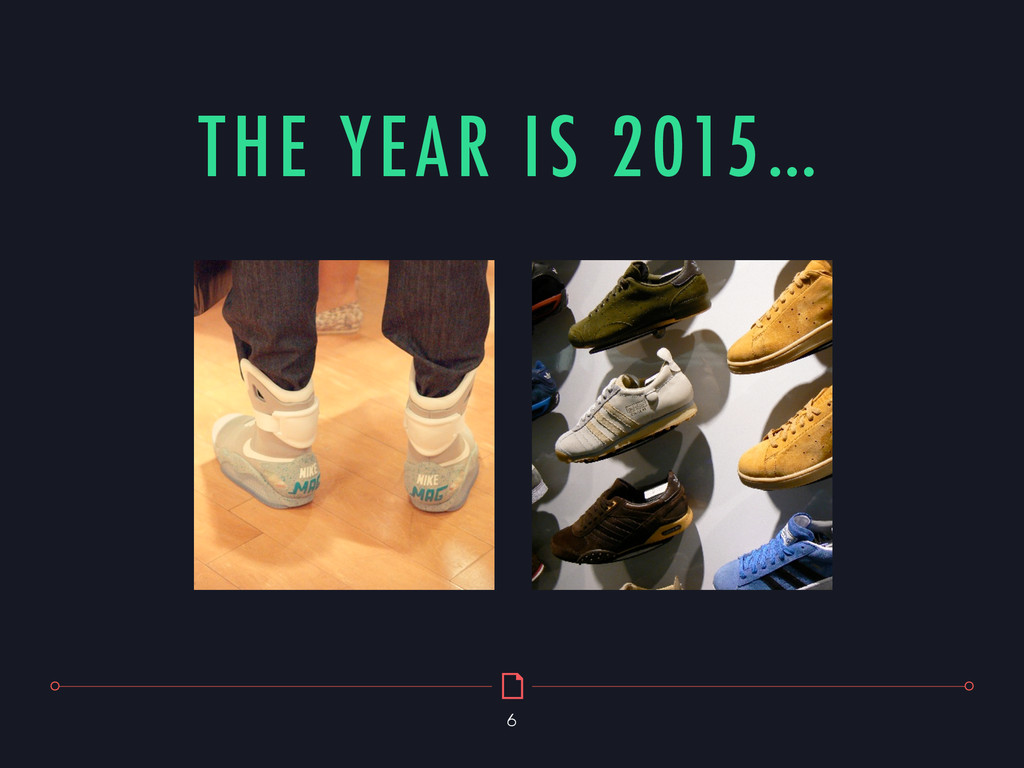 THE YEAR IS 2015… 6