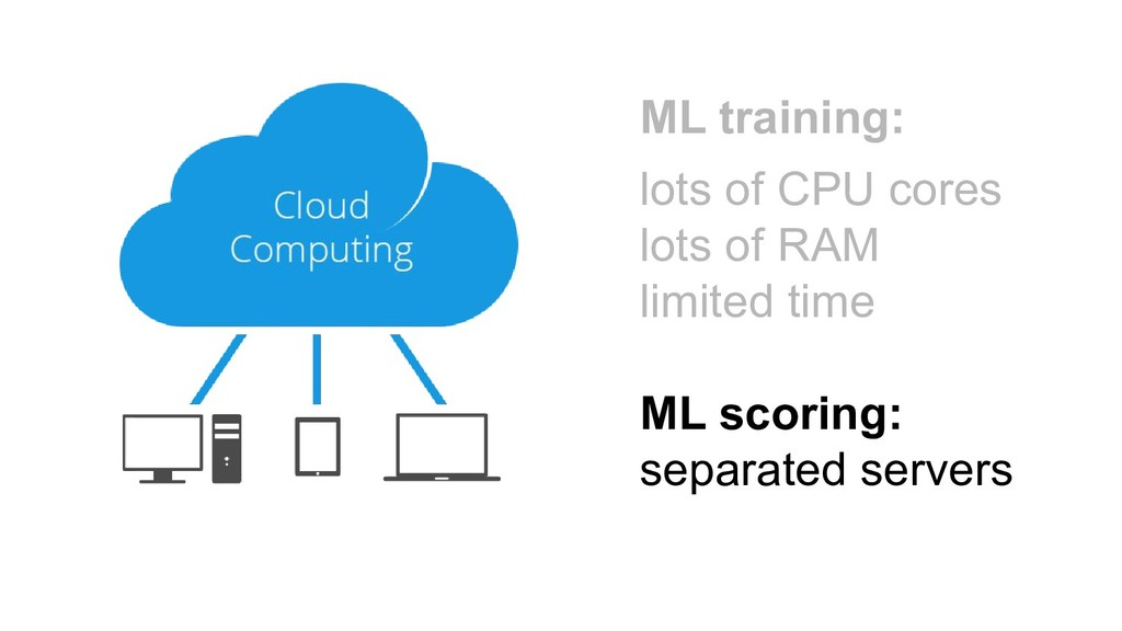 ML training: lots of CPU cores lots of RAM limi...