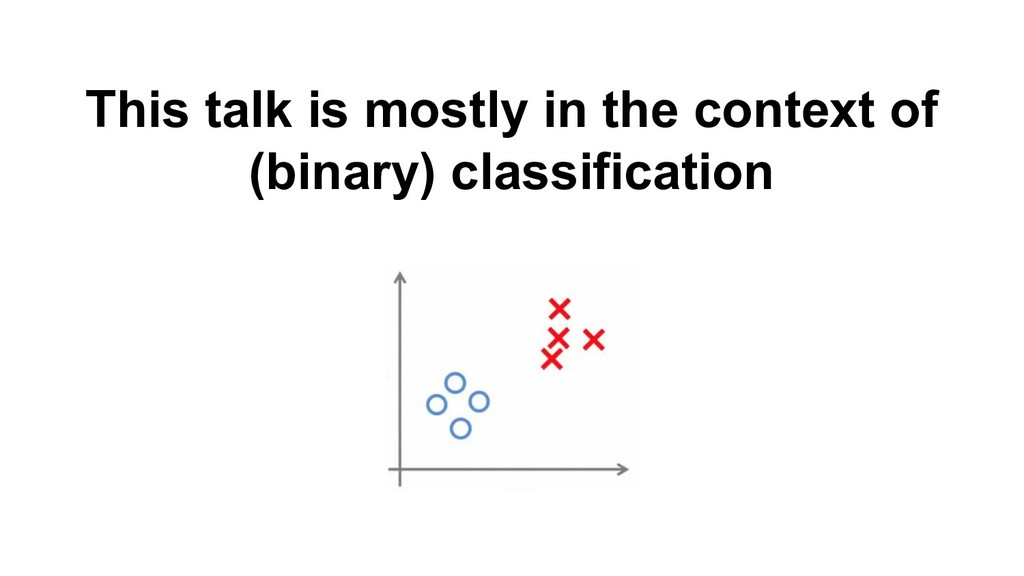 This talk is mostly in the context of (binary) ...