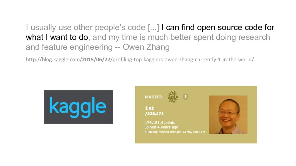 I usually use other people's code [...] I can f...
