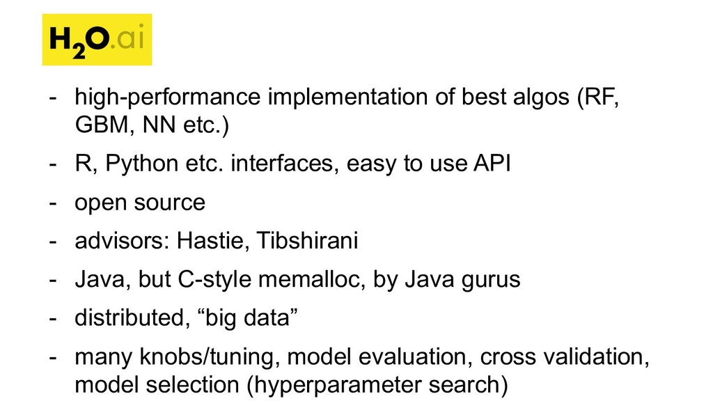 - high-performance implementation of best algos...