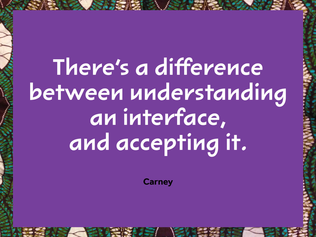 There's a difference between understanding  an ...
