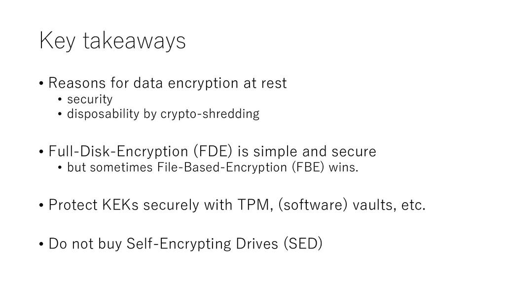 Key takeaways • Reasons for data encryption at ...