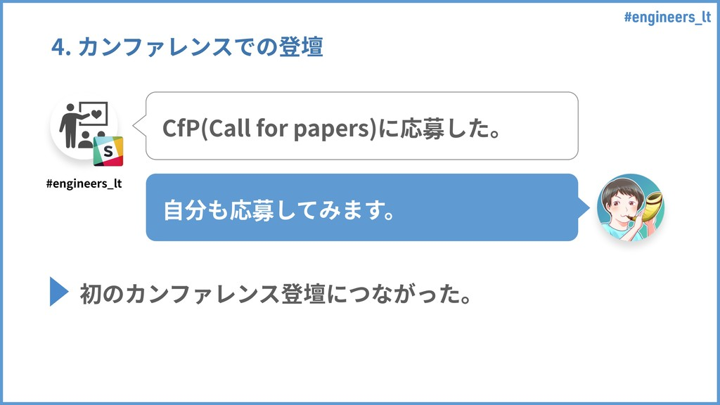 #engineers_lt 4. カンファレンスでの登壇 CfP(Call for paper...