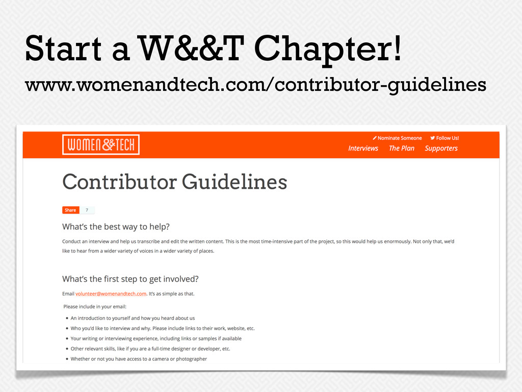 www.womenandtech.com/contributor-guidelines Sta...