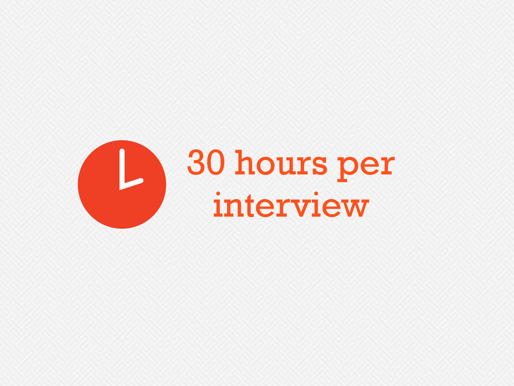 30 hours per interview