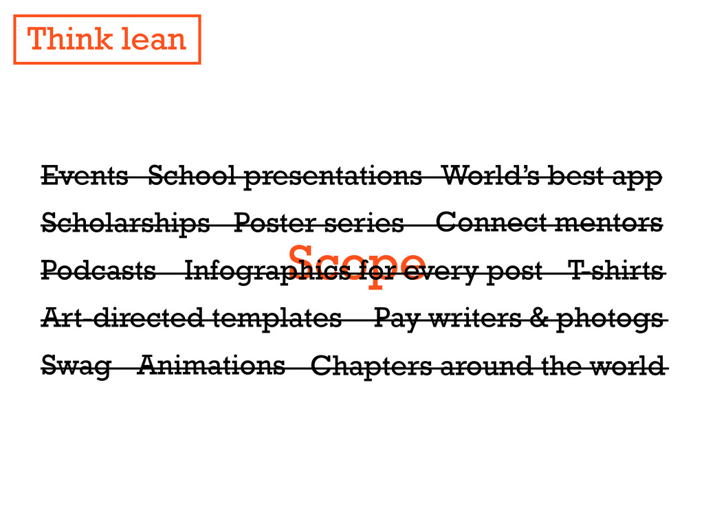 Think lean Scope Events Scholarships Art-direct...