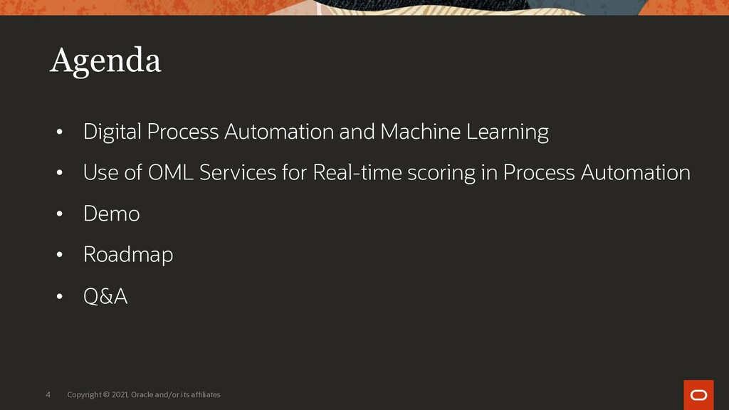 Agenda • Digital Process Automation and Machine...