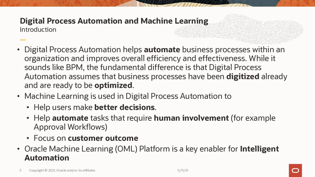 Digital Process Automation and Machine Learning...