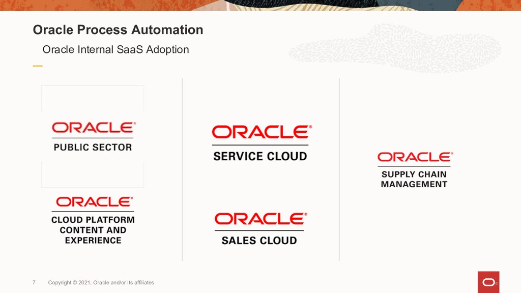 Oracle Process Automation Oracle Internal SaaS ...