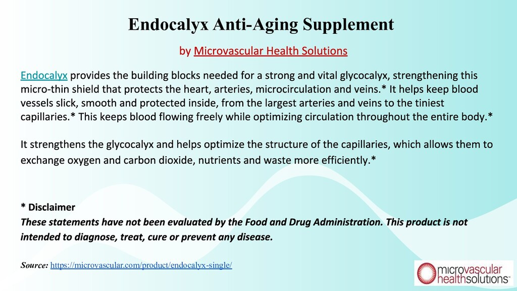 Endocalyx Anti-Aging Supplement Source: https:/...
