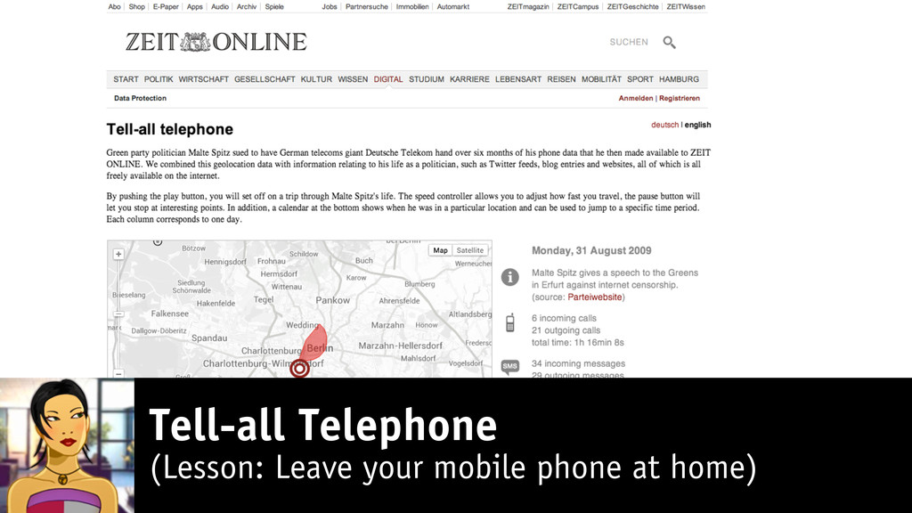 Tell-all Telephone (Lesson: Leave your mobile p...