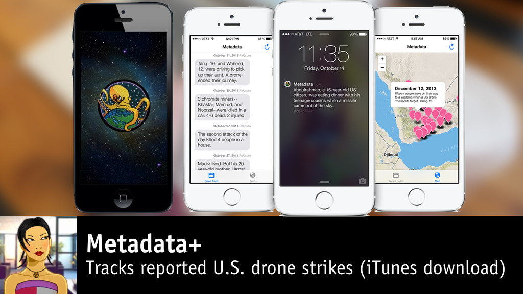Metadata+ Tracks reported U.S. drone strikes (i...