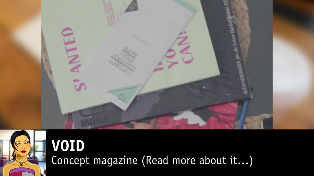 VOID Concept magazine (Read more about it…)