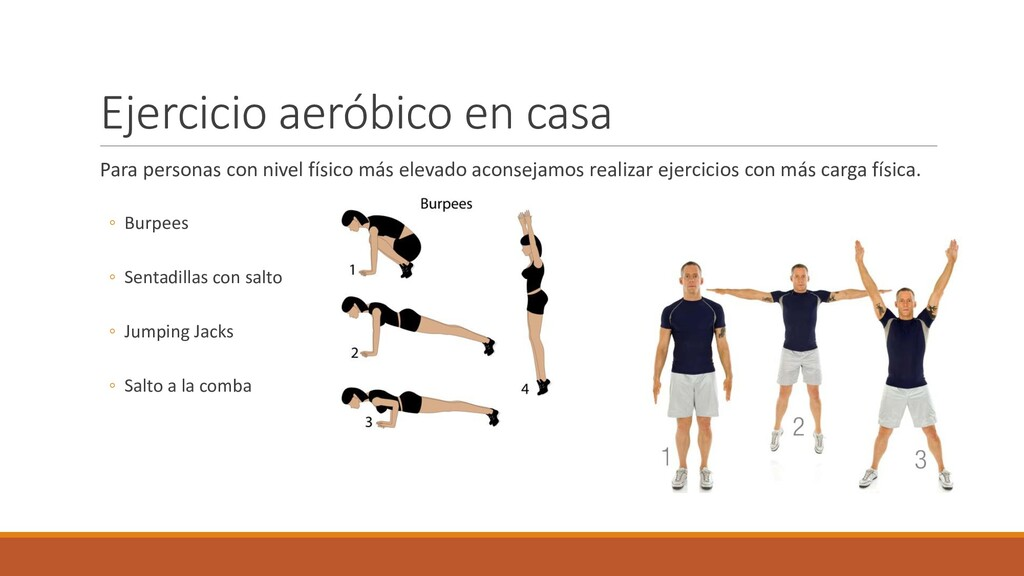 Ejercicio aeróbico en casa Para personas con ni...
