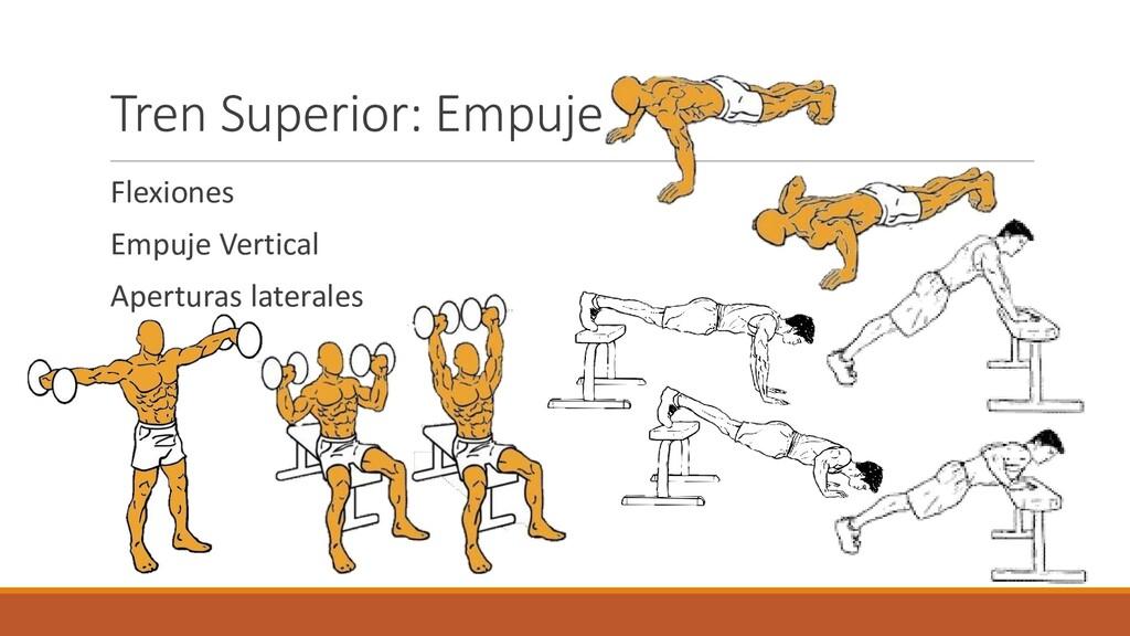 Tren Superior: Empuje Flexiones Empuje Vertical...