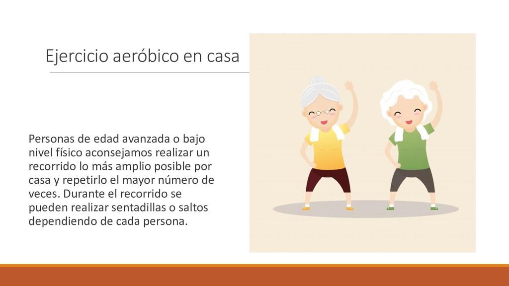 Ejercicio aeróbico en casa Personas de edad ava...