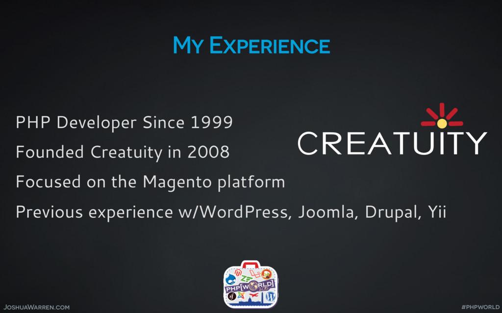 JoshuaWarren.com My Experience PHP Developer Si...