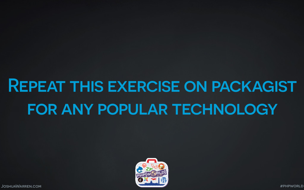 JoshuaWarren.com Repeat this exercise on packag...