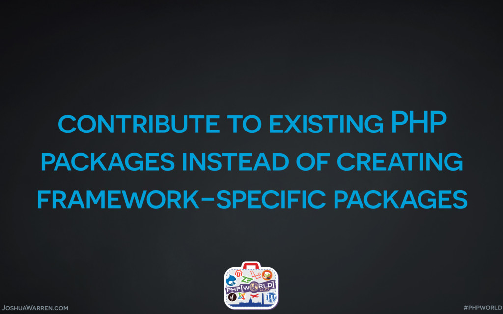 JoshuaWarren.com contribute to existing PHP pac...