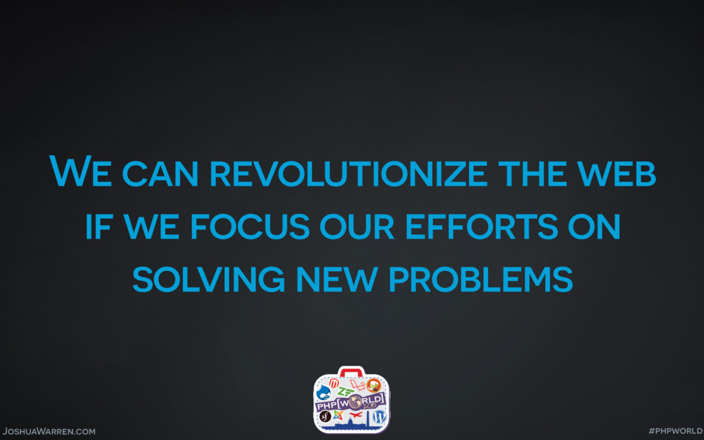 JoshuaWarren.com We can revolutionize the web i...