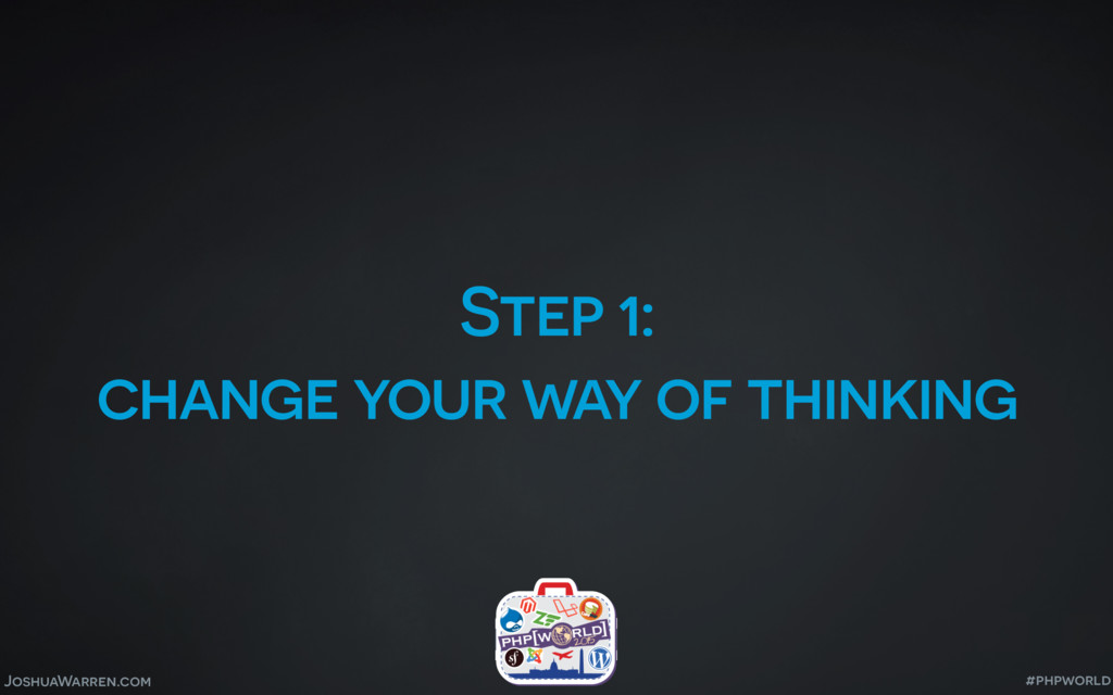 JoshuaWarren.com Step 1: change your way of thi...