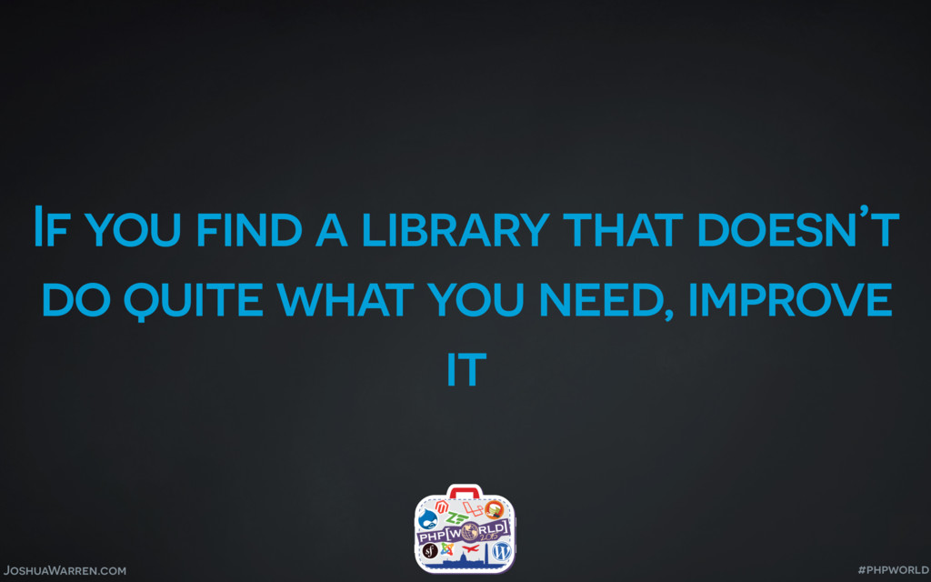 JoshuaWarren.com If you find a library that doe...