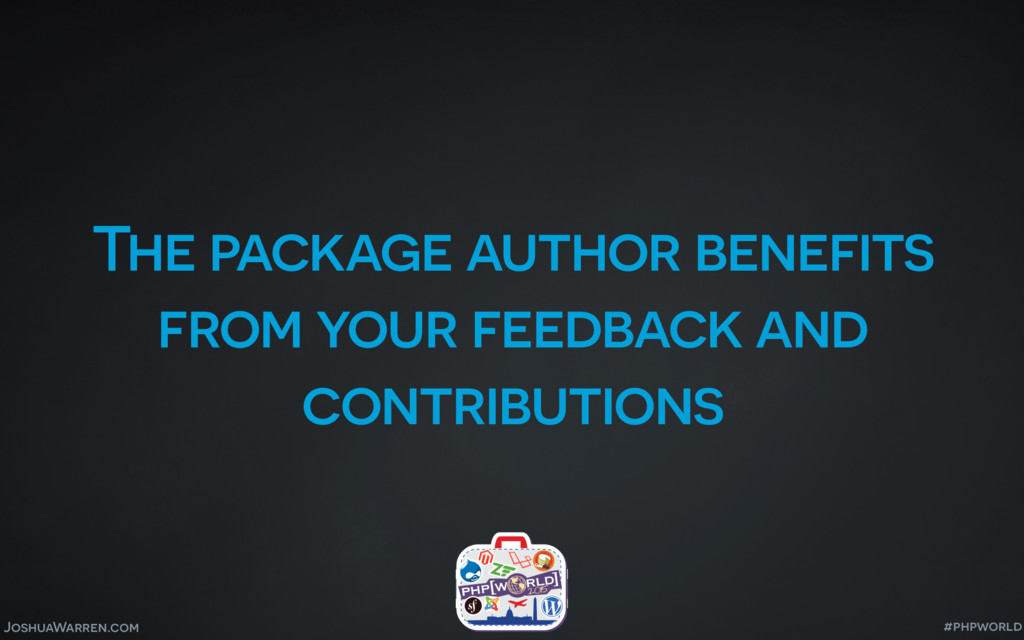 JoshuaWarren.com The package author benefits fr...