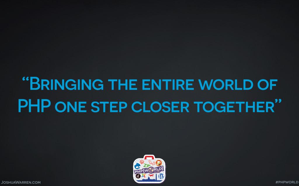 "JoshuaWarren.com ""Bringing the entire world of ..."
