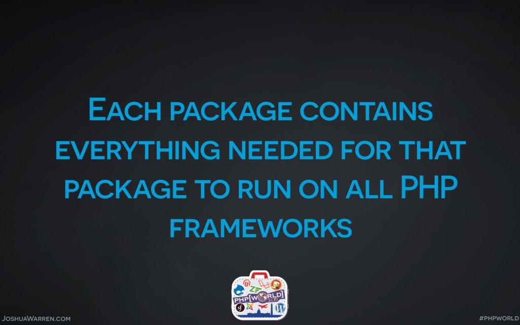 JoshuaWarren.com Each package contains everythi...