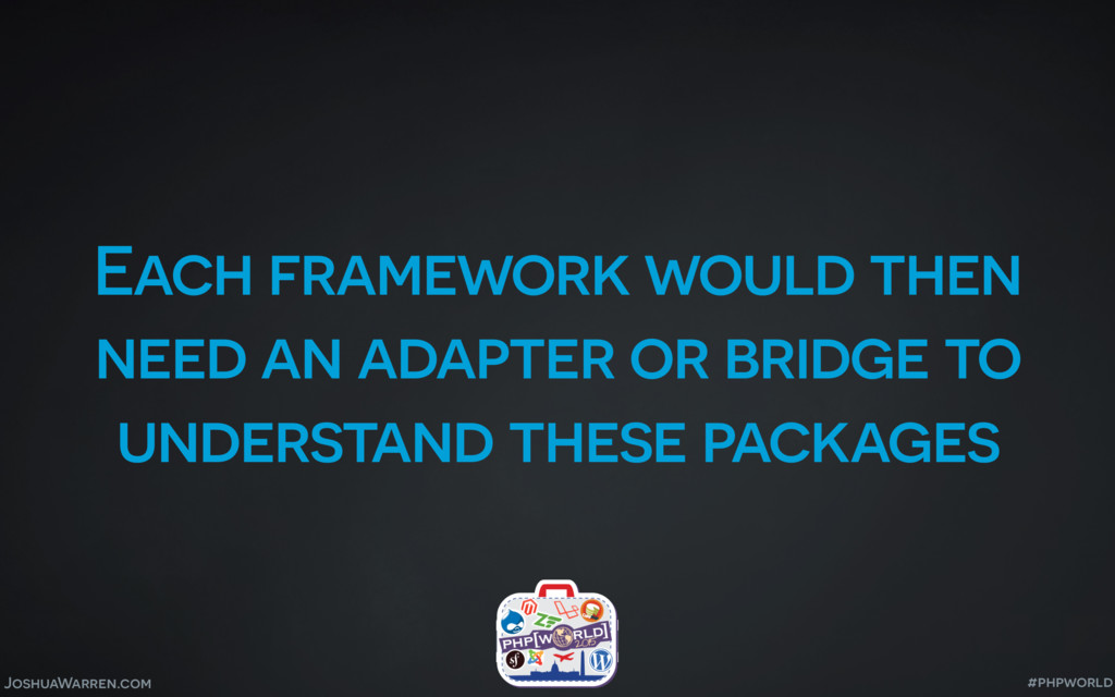 JoshuaWarren.com Each framework would then need...