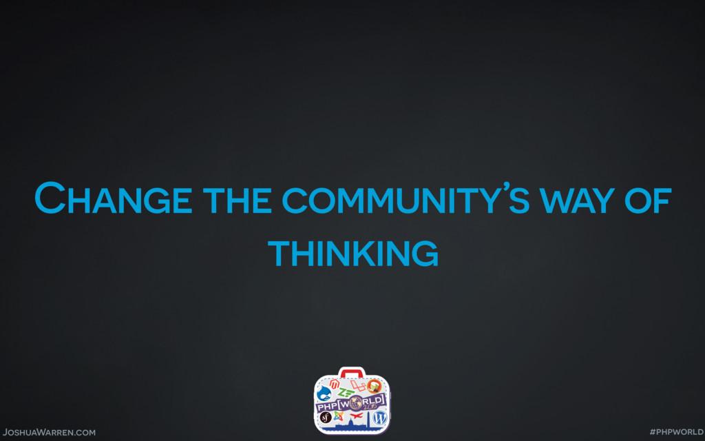 JoshuaWarren.com Change the community's way of ...