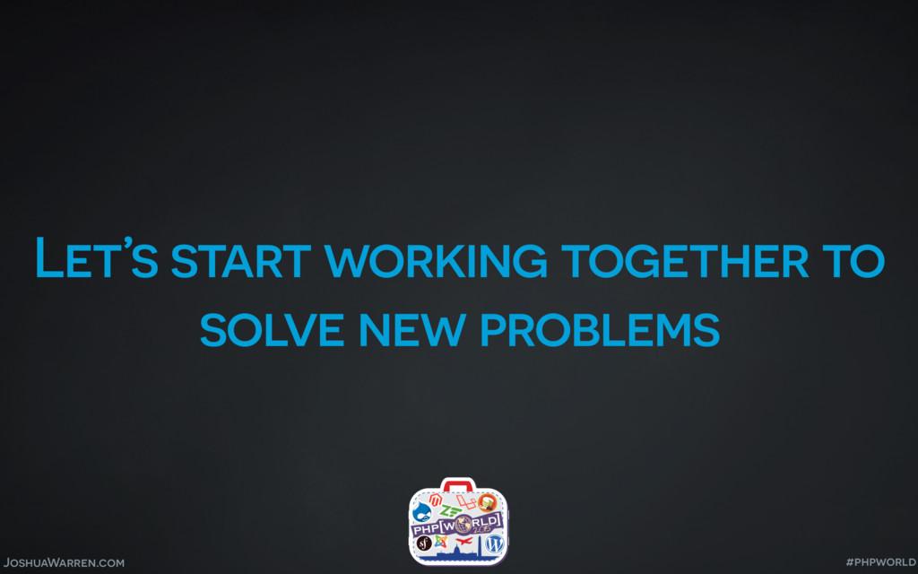 JoshuaWarren.com Let's start working together t...