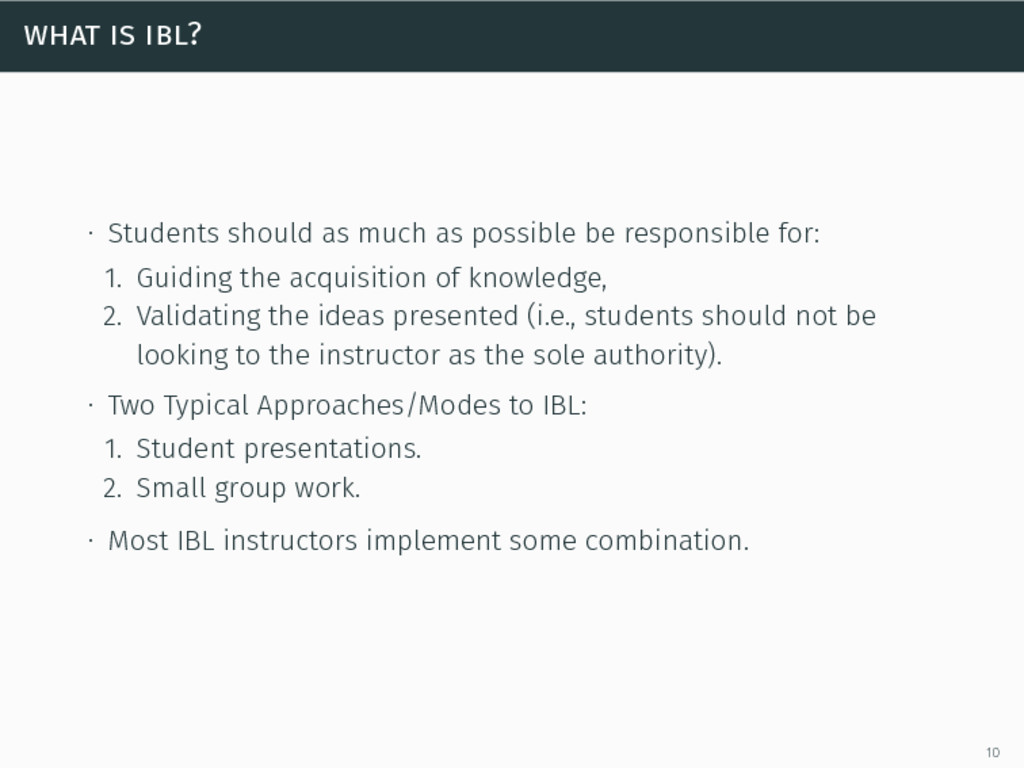 what is ibl? ∙ Students should as much as possi...