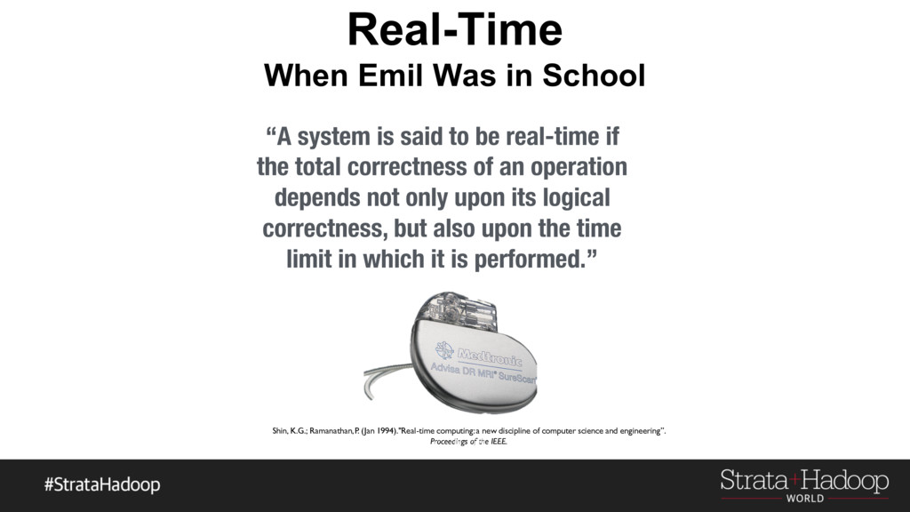 """Real-Time When Emil Was in School """"A system is ..."""