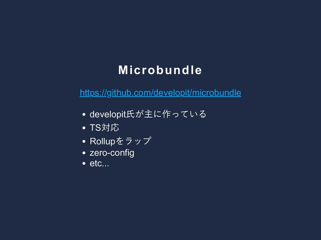 Microbundle https://github.com/developit/microb...