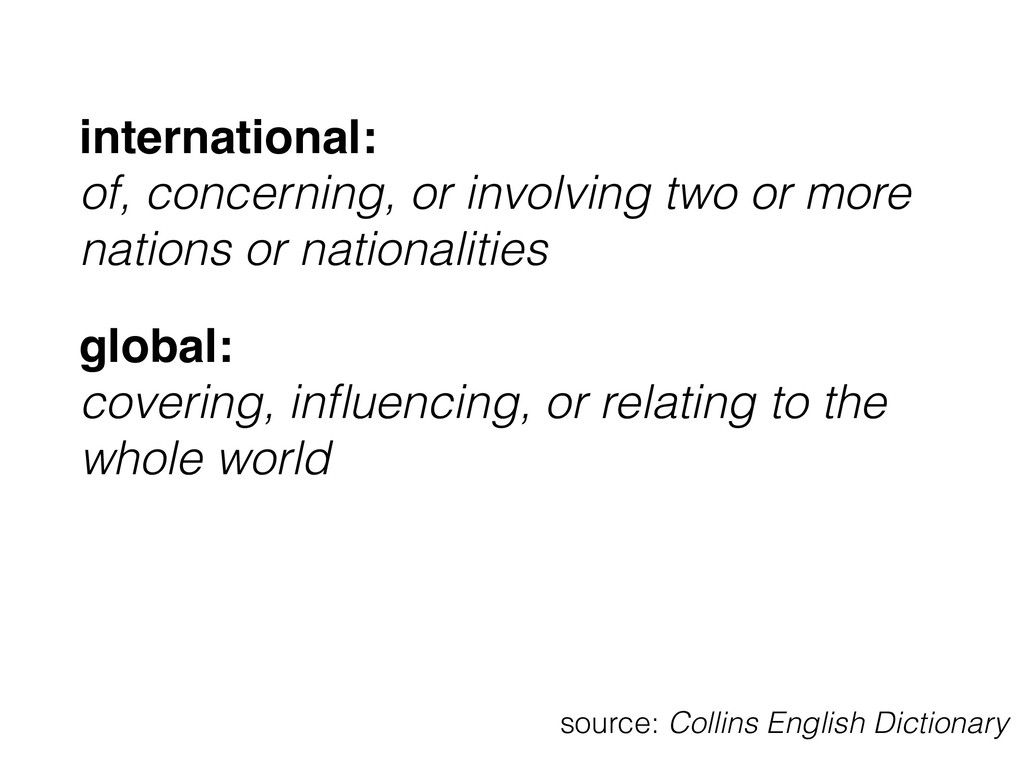 international: 