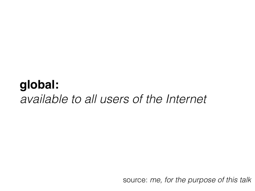 global: