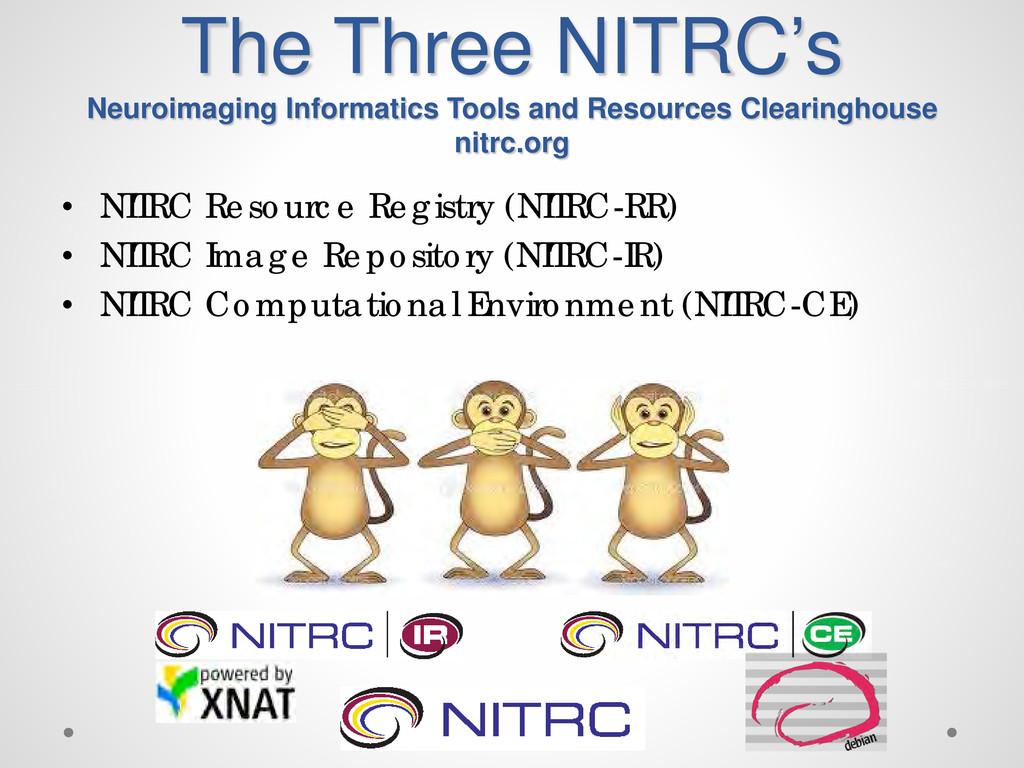 The Three NITRC's Neuroimaging Informatics Tool...