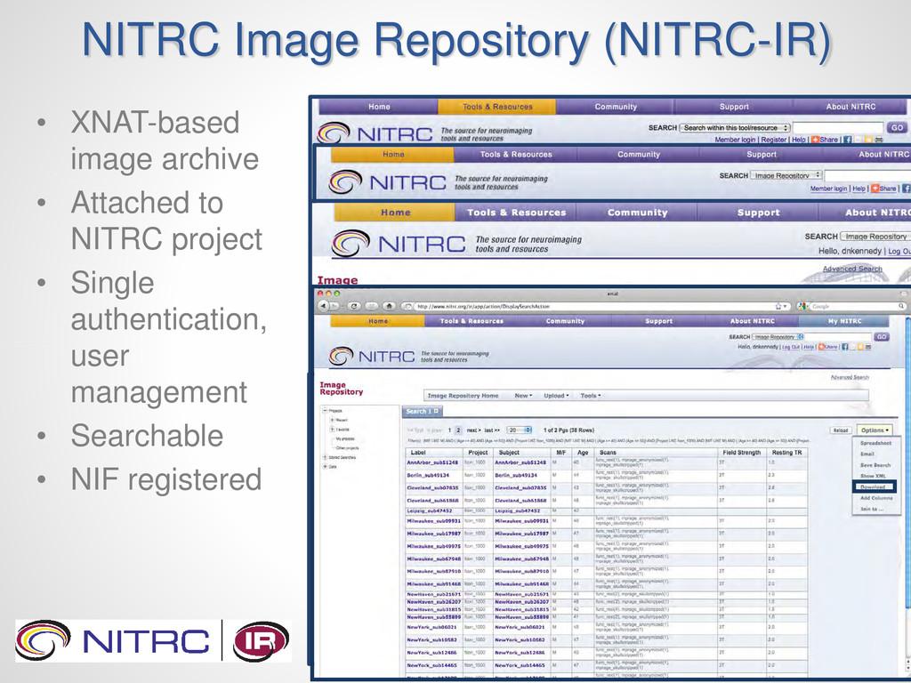 NITRC Image Repository (NITRC-IR) • XNAT-based ...