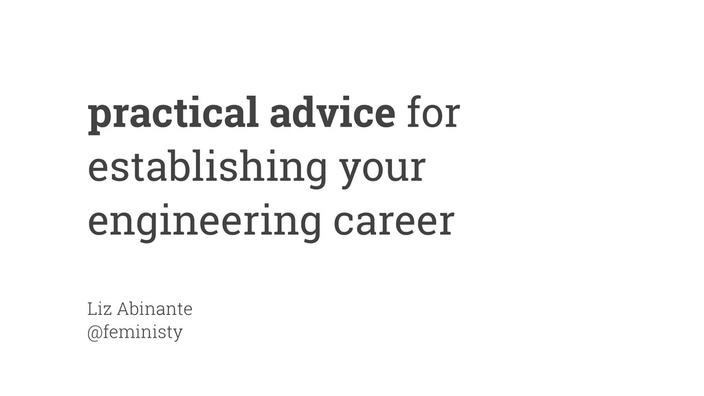 practical advice for establishing your engineer...
