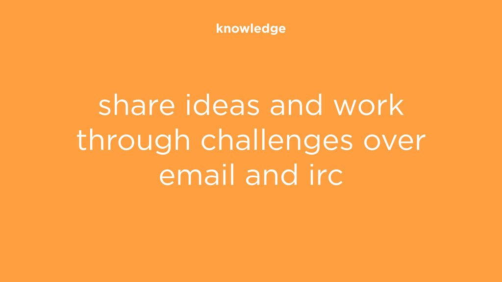 knowledge share ideas and work through challeng...
