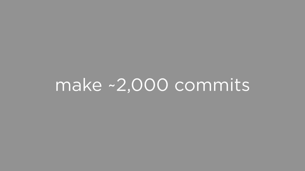 make ~2,000 commits