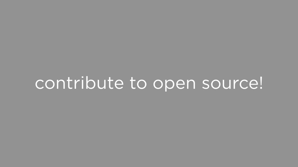 contribute to open source!